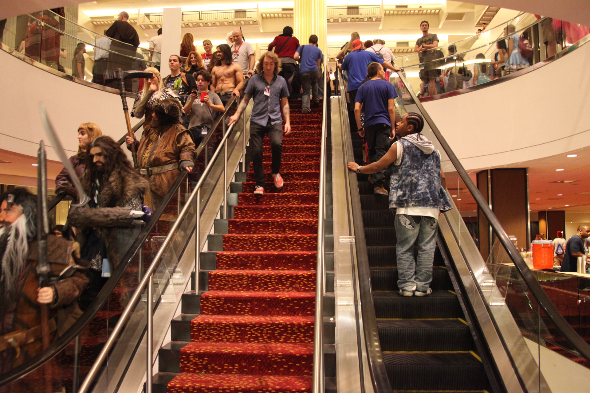Some warriors prefer escalators