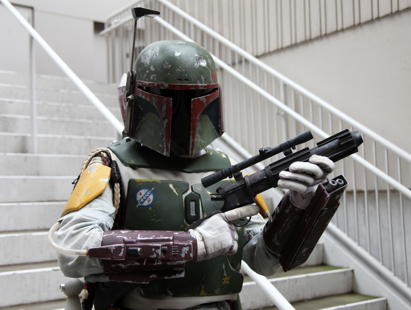 "<p>The faceless Boba Fett stands out as one of the most mysterious of all the personae in the vast ""Star Wars"" universe.</p>  <p>For Andrew Miller, a 41-year-old office worker who spends his days at a reference law library in East Lansing, Mich., being Boba Fett -- or at least looking and acting just like the intergalactic bounty hunter -- has become a second life of sorts. When I met Miller at <a href=""http://news.cnet.com/8301-17938_105-57601015-1/rounding-up-cnets-pictorial-coverage-of-dragon-con/"" >Dragon Con</a> in early September, I knew I finally came across the Boba Fett fan I'd always been searching for.</p>  <p>You can't just go out and buy a Boba Fett costume and say the deed is done, especially if you want to do it right. When Miller created his first Fett costume at age 27, little did he know he'd be spending many years after tweaking, changing pieces often, and eventually come close to achieving a film-quality representation of the Boba Fett costume as seen in the 1983 sci-fi spectacular ""<a href=""http://news.cnet.com/2300-17938_105-10016726-1.html"" >Star Wars: Return of the Jedi</a>.""</p>  <p>Miller told CNET he has spent ""hundreds and hundreds"" of hours perfecting the outfit. It took six months of nights and weekends to build the original suit, and Miller has since then upgraded almost every piece of the outfit as more reference material hit the Internet. The community and resources from <a href=""http://www.thedentedhelmet.com/"" >The Dented Helmet</a>, a collective of Boba Fett costume enthusiasts, have substantially helped Miller along the way.</p>  <p>Click through for a closer look at this incredible re-creation of Boba Fett's costume.</p>"