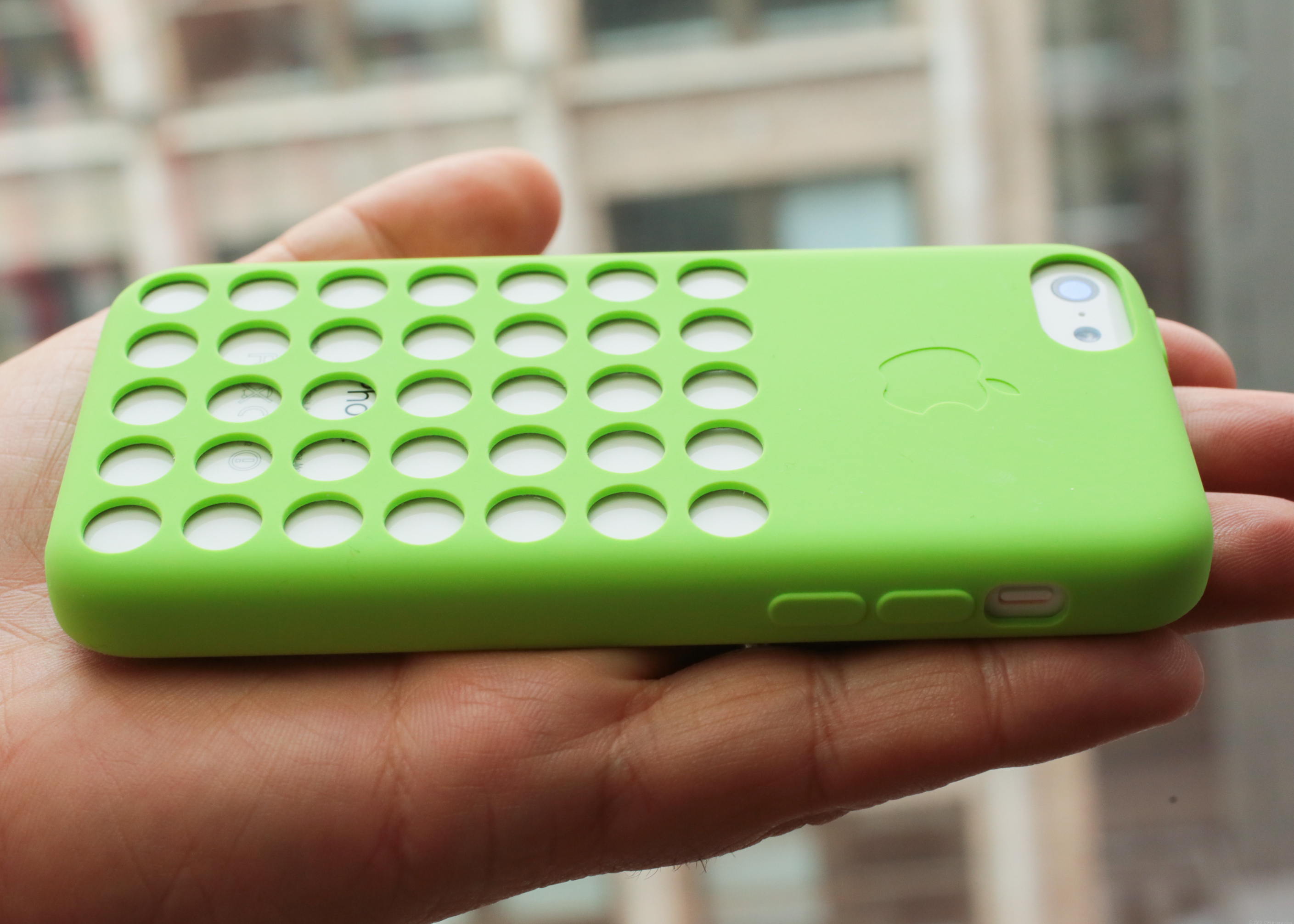 iPhone 5C with Apple's case