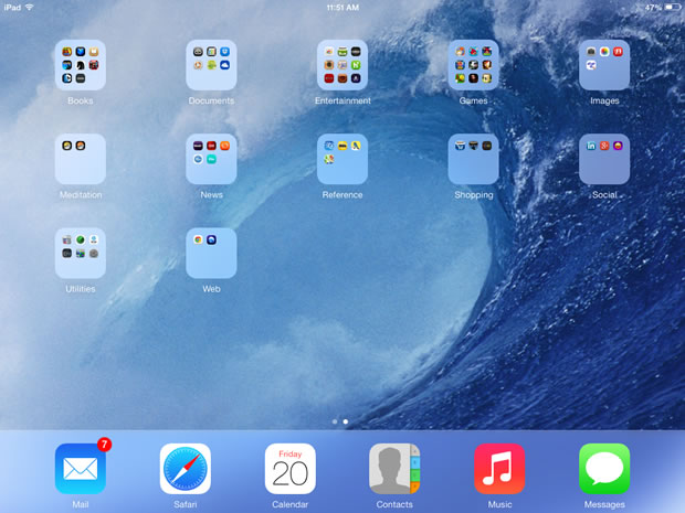 iOS 7 on my iPad.