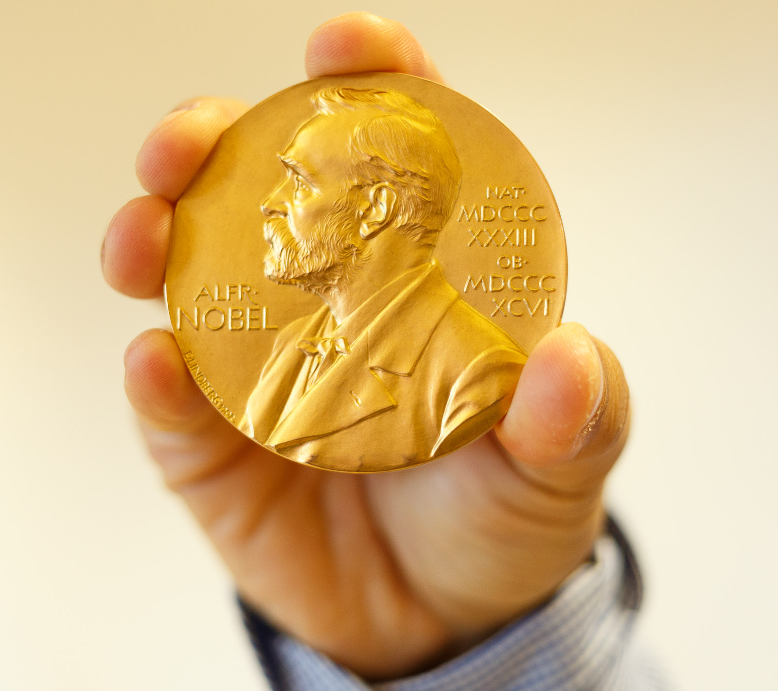Gerd Binnig and Heinrich Rohrer, two researchers at IBM's research lab in Zurich, Switzerland, received the Nobel prize for developing the scanning tunneling microscope. That instrument is now a fixture for nanotechnology research.