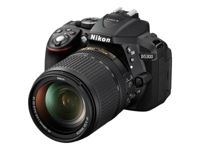 Nikon D5300 (with 18-55mm VR II Lens, Red)