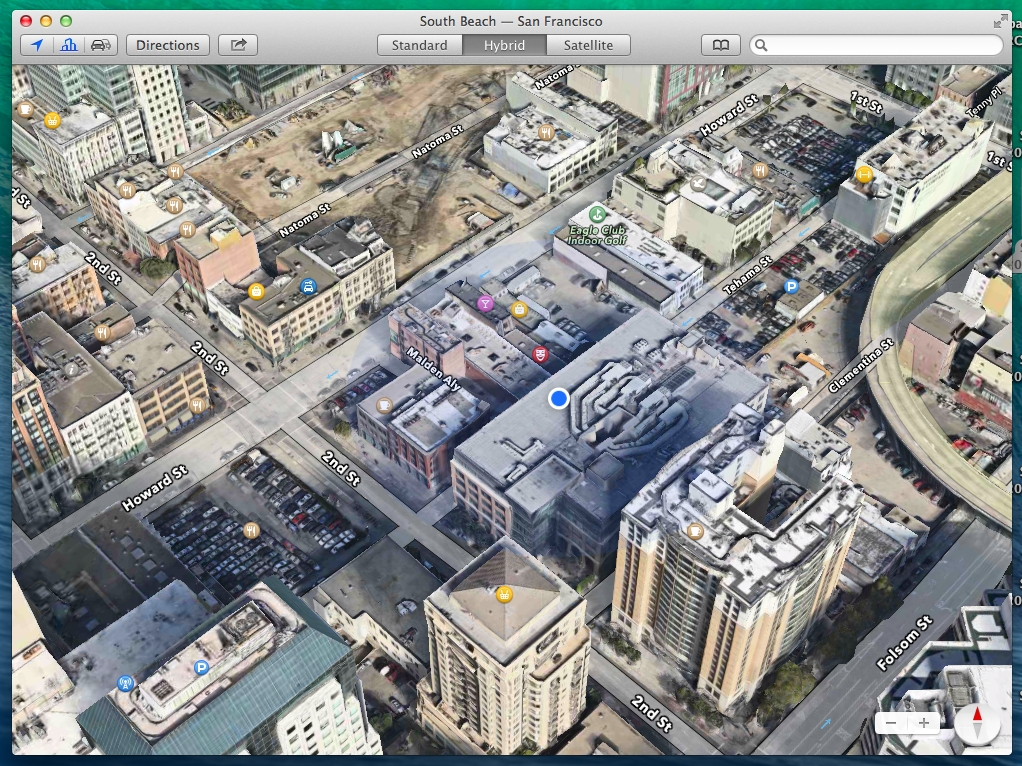 Maps in Mac OS X Mavericks and iOS 7