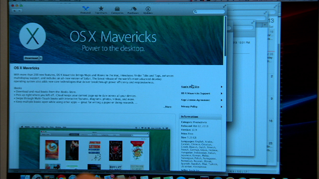 Video: Mac OS X Mavericks streamlines features and adds new apps