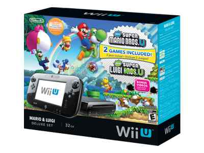Nintendo Wii U Deluxe Mario and Luigi Bundle