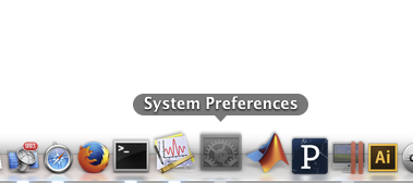 Dock manual navigation in OS X