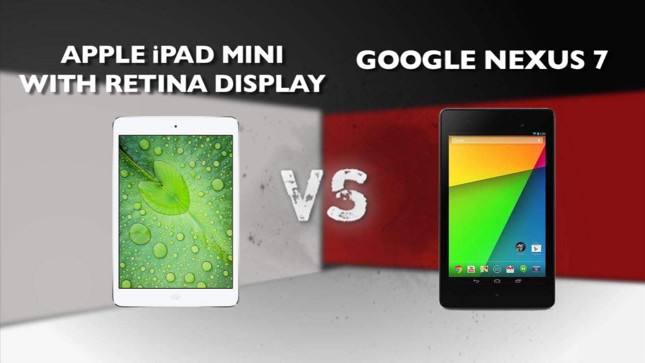 Video: iPad Mini Retina vs. New Nexus 7