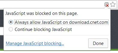 Google Chrome allow-JavaScript dialog