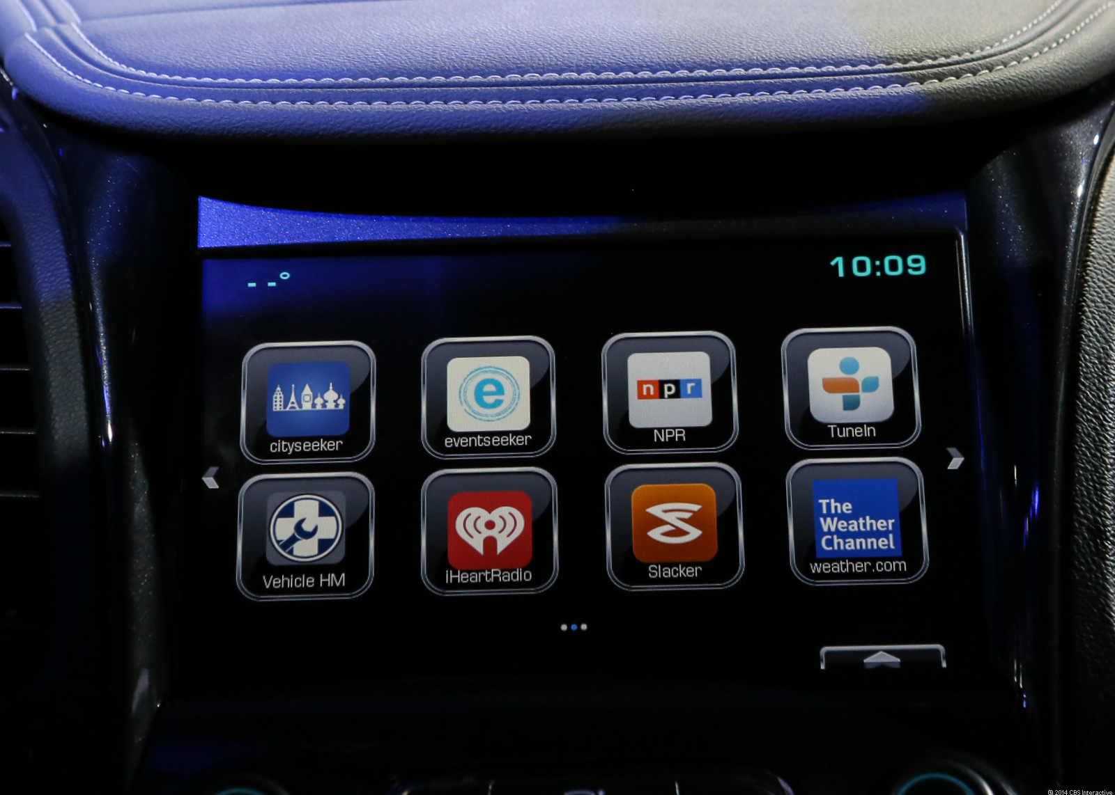 GM demonstrated the new App Shop, an app platform to be launched in Chevrolet vehicles equipped with the MyLink infortainment system. Just like a smartphone, a Chevy owner will be able to browse a number of apps, and choose which to install.