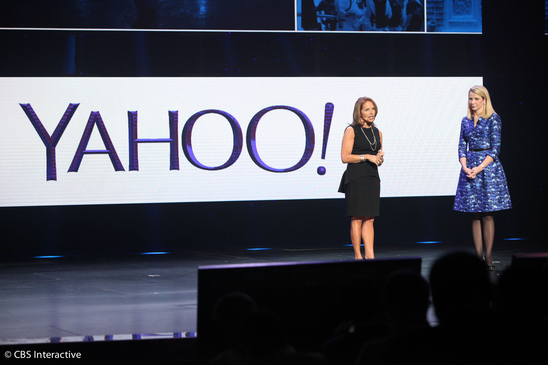 LAS VEGAS -- Yahoo CEO Marissa Mayer on Tuesday took the CES stage, where she announced several new news products, including a twice-daily summary of trending headlines called Yahoo News Digets, and digital magazines, starting with Yahoo Tech and Yahoo Food.</p>