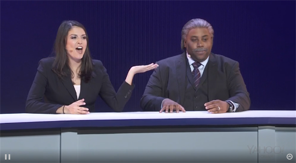 Keenan Thompson and Cecily Strong, CES 2014