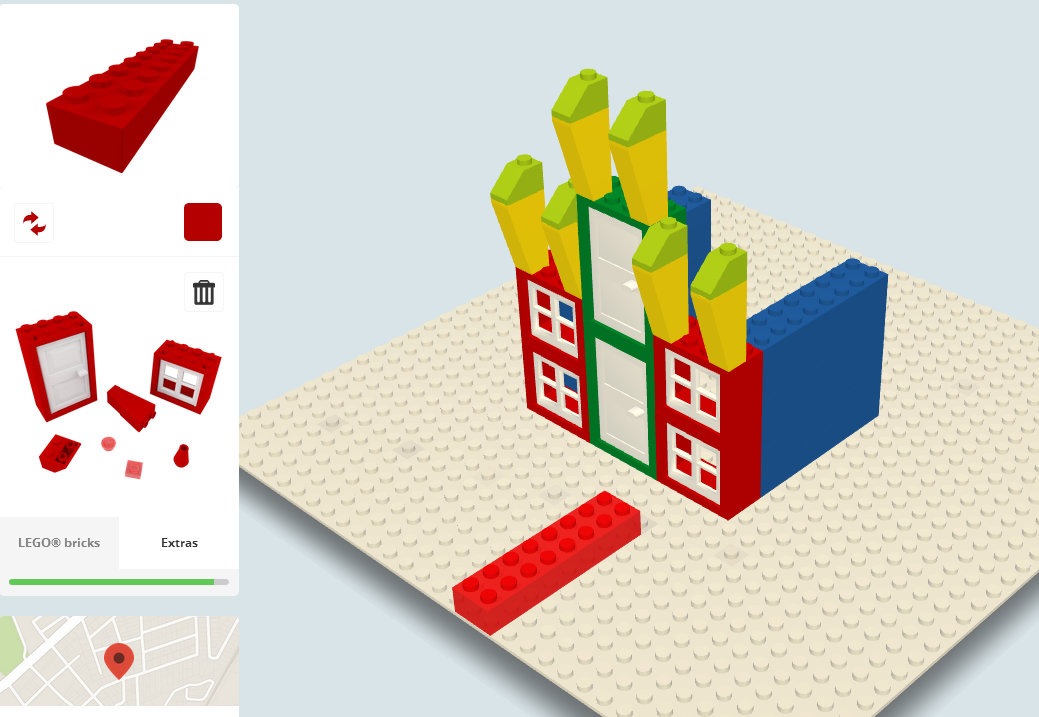 Build with Chrome Lego structure