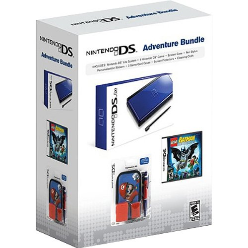 Nintendo DS Lite (Cobalt/Black) Adventure Bundle