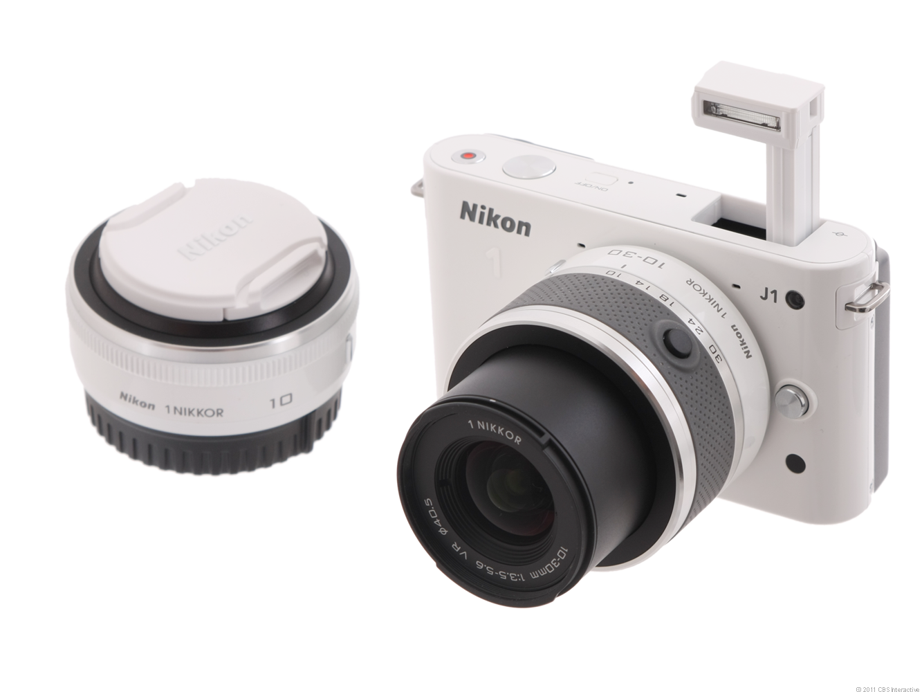 Nikon 1 J1 (with 10mm and 10-30mm lenses, White)