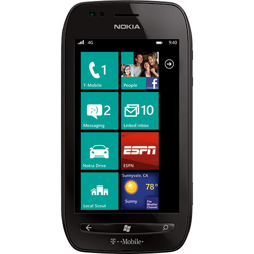Nokia Lumia 710 - black (T-Mobile) - refurbished