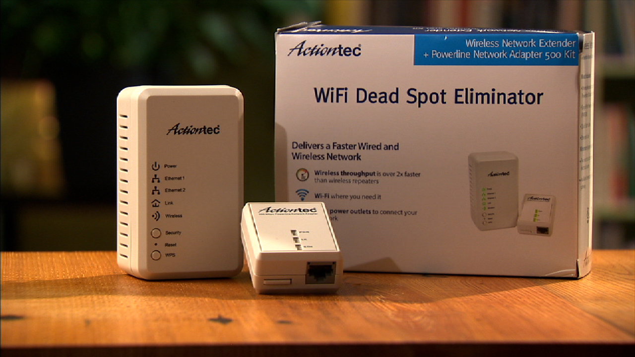 Video: This latest powerline network extender from Actiontec has a name that's too long to show here