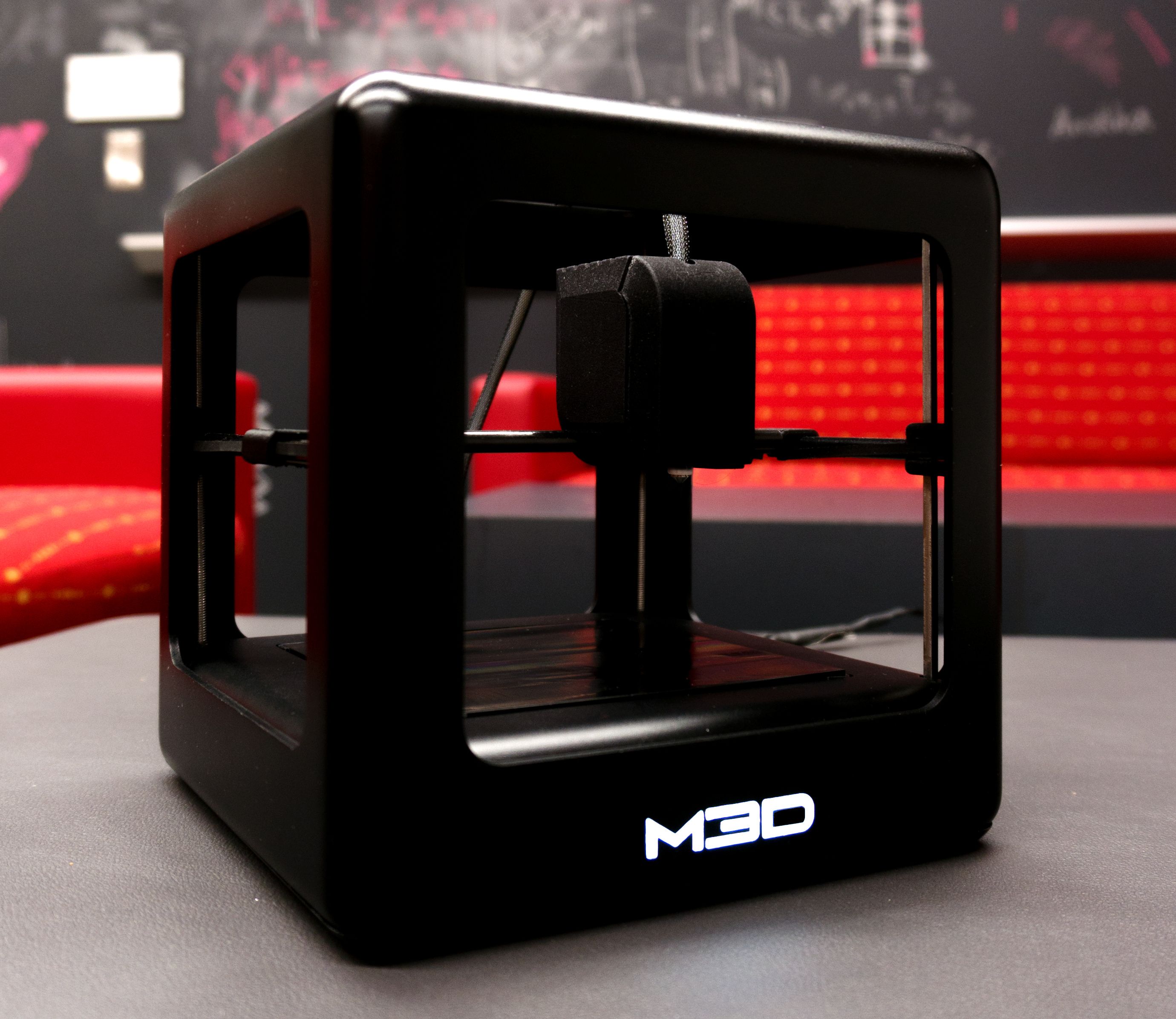 The micro is compact and prints objects up to 4 6 inches tall m3d