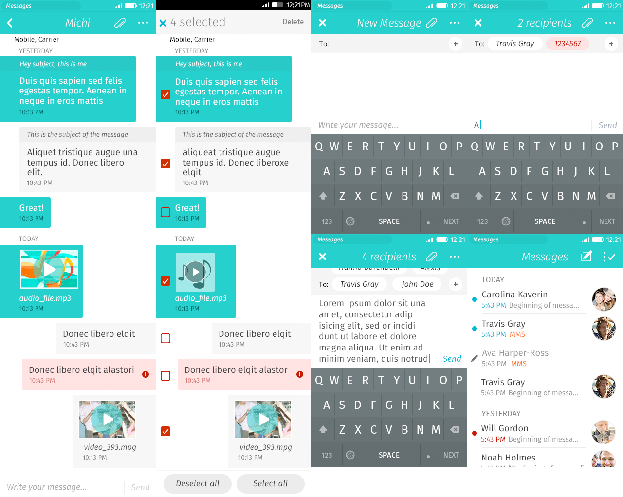 Firefox OS 2.0 messaging app