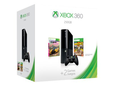Microsoft Xbox 360 E (250GB) Spring Value Bundle (Forza Horizon & Borderlands 2)