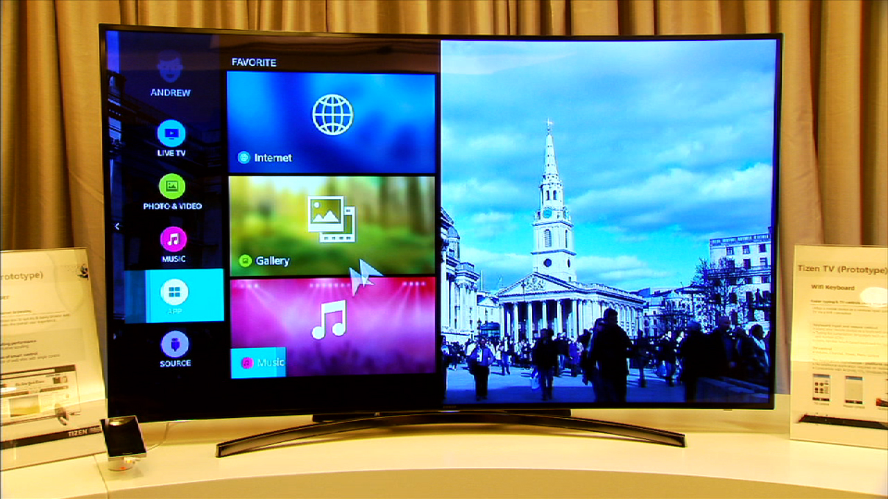 Video: Samsung demos curved Tizen TV