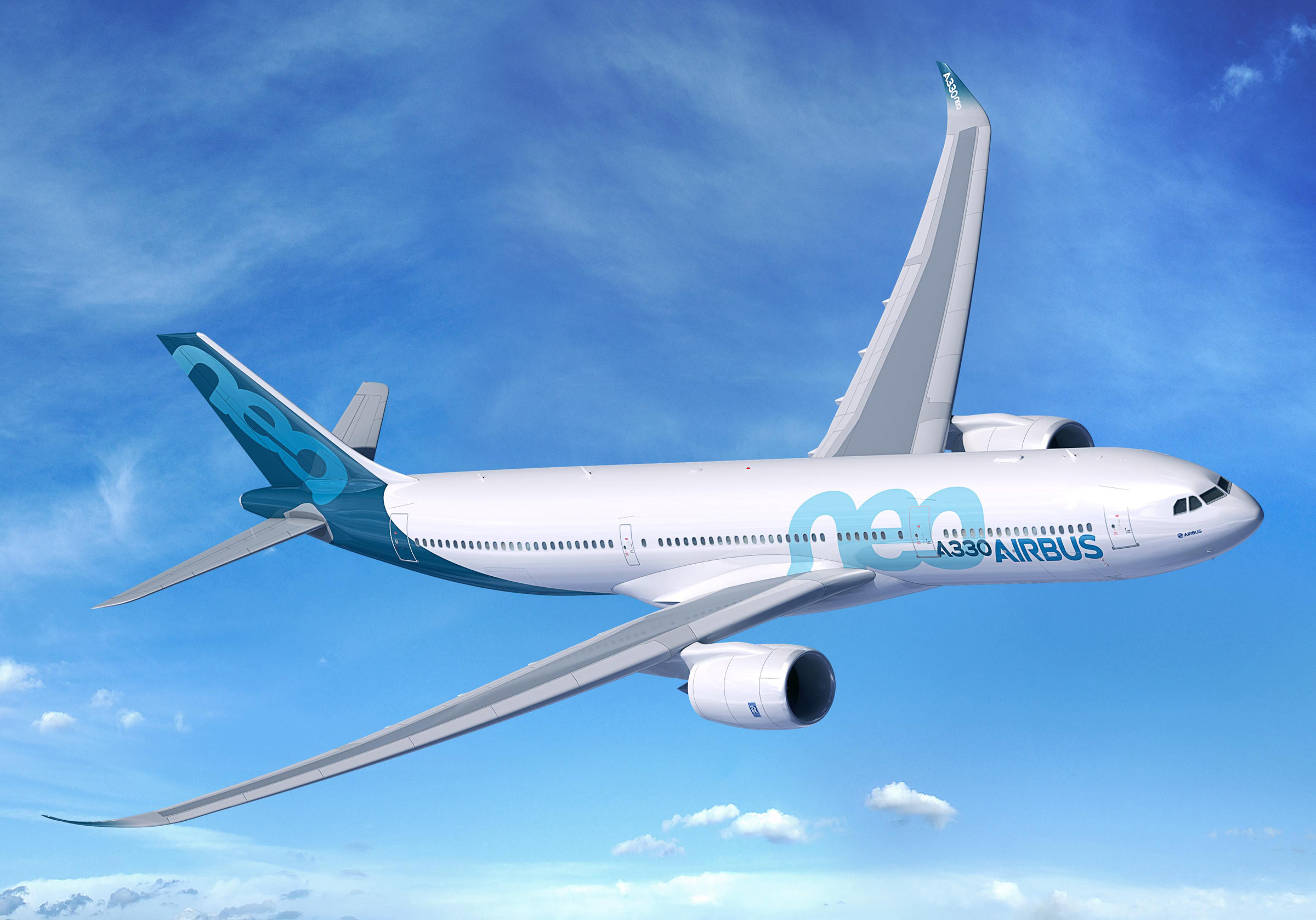 A computer rendering of the Airbus A330-900neo