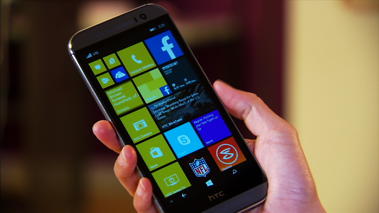 Video: HTC's One M8 takes Windows Phone for a spin
