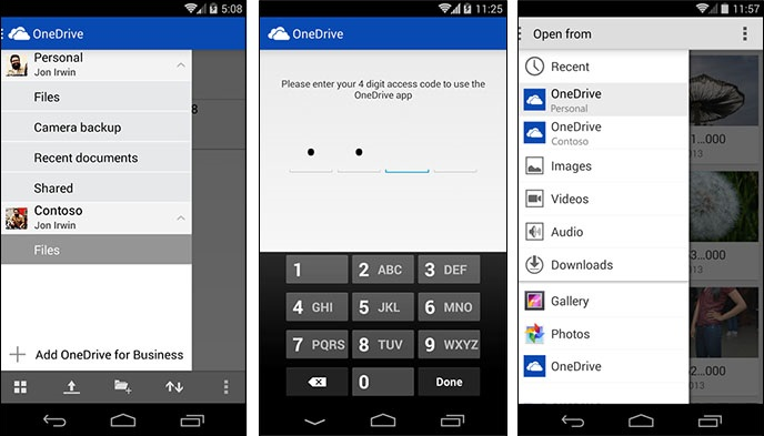 Microsoft's OneDrive for Android