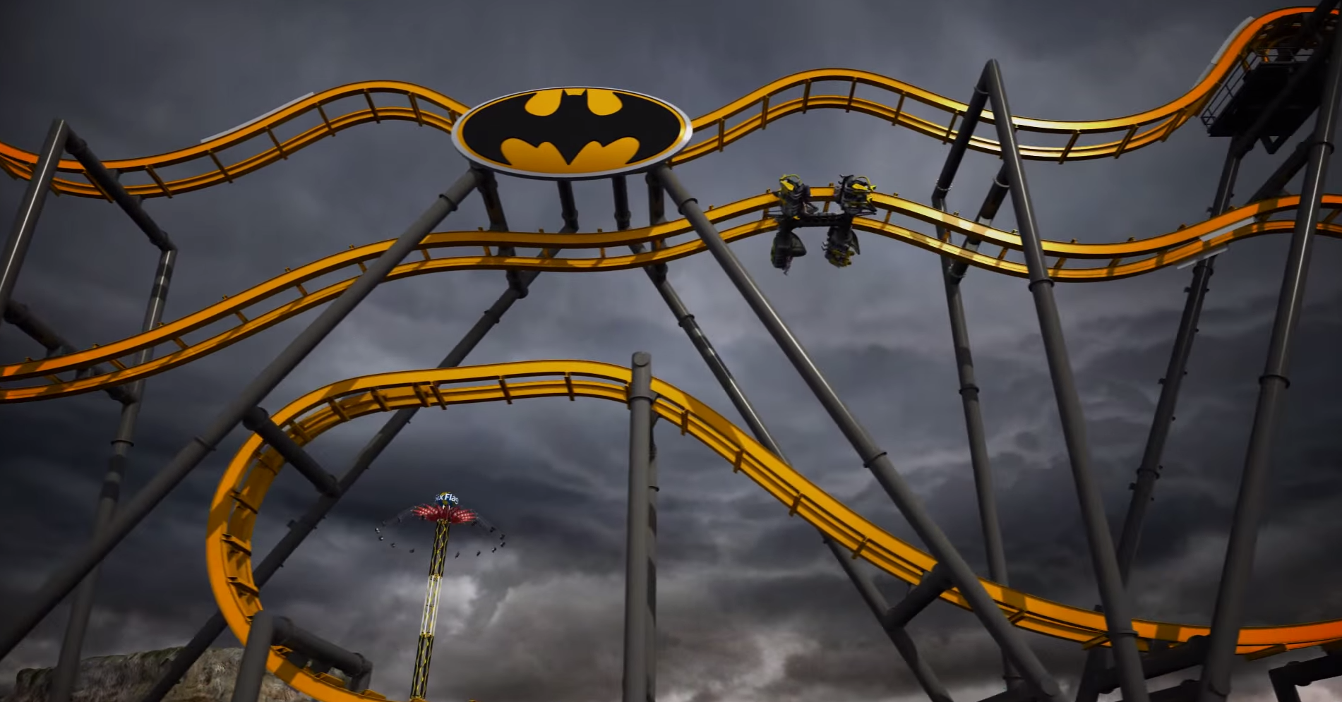 Batman: The Ride will let you glide through the air like the caped crusader, if you can stomach it.