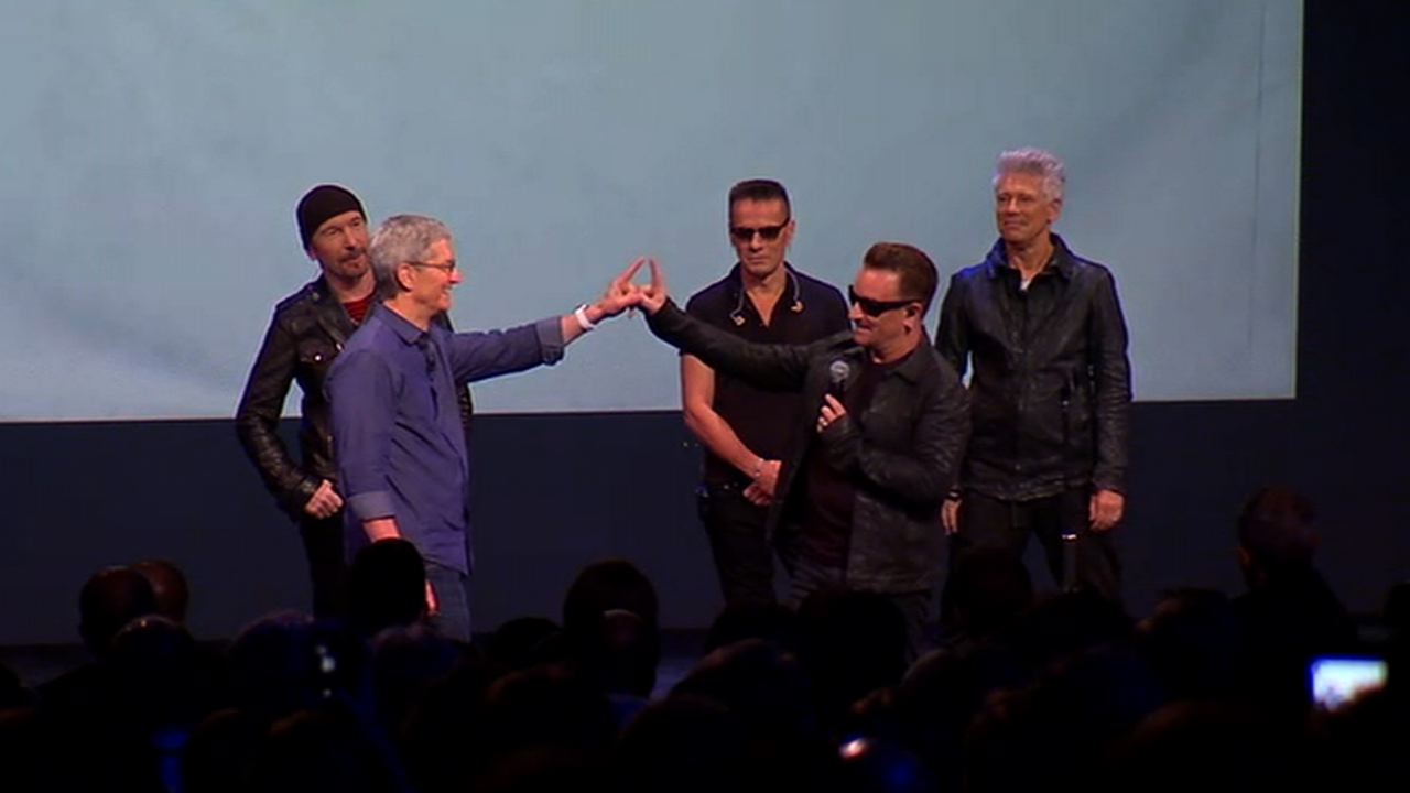 Video: U2 debuts new album and makes available for free on iTunes
