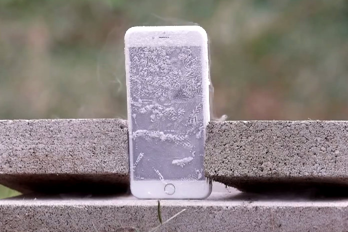 iPhone after liquid nitrogen