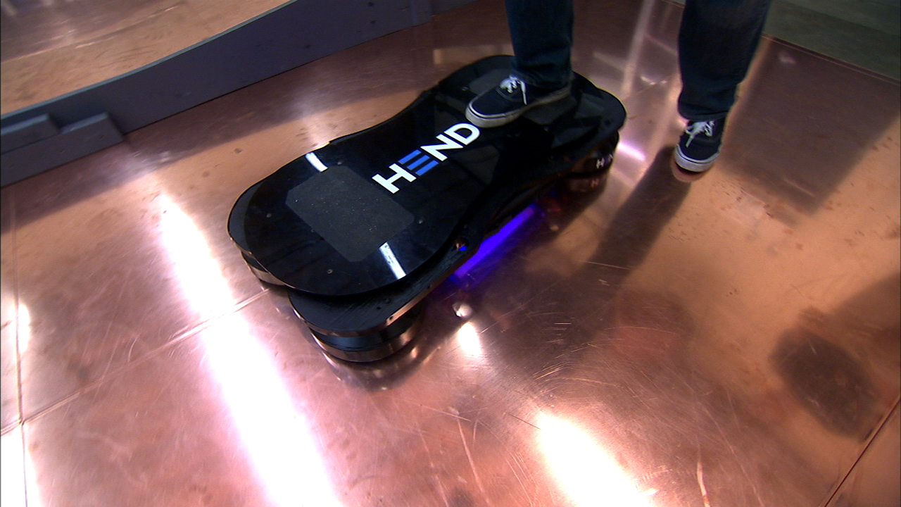 Video: Taking a spin on a real-life hoverboard
