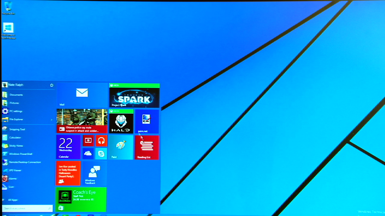 Video: Take a look at the Windows 10 Start menu