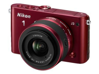 Nikon 1 J3 ( with 10-30mm and 30-110mm Lens, Red)