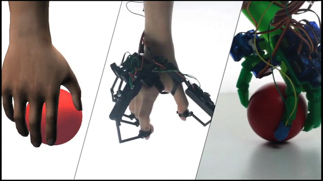 Video: Grasp and feel objects in a virtual environment with the Dexmo VR Glove, Ep. 181