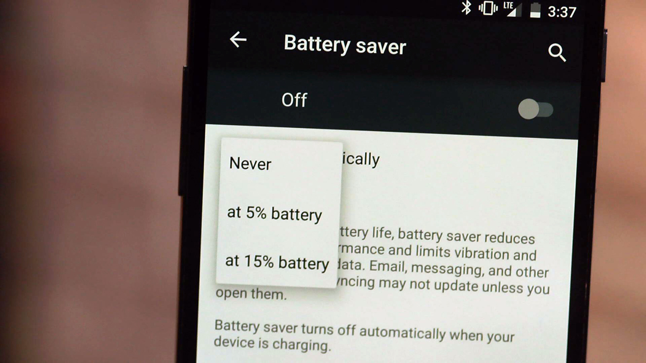 Video: Enable battery saver on Android 5.0 Lollipop