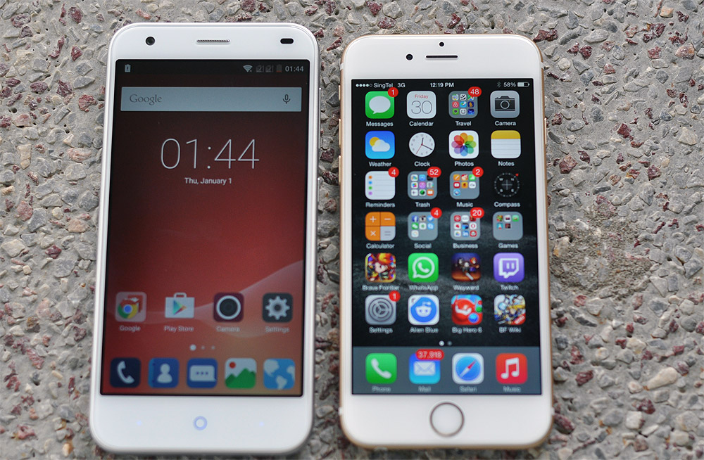 Zte Blade s6 vs Iphone 6 Zte Blade s6 Review an Iphone