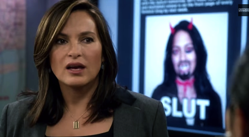 Sergeant Olivia Benson (Mariska Hargitay) won't be treating trolls lightly.