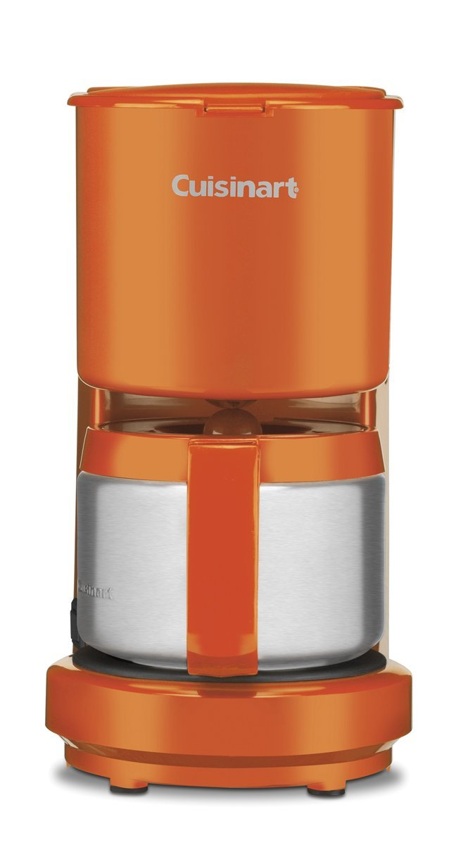 Cuisinart 4-Cup Coffeemaker with Stainless-Steel Carafe (Orange)