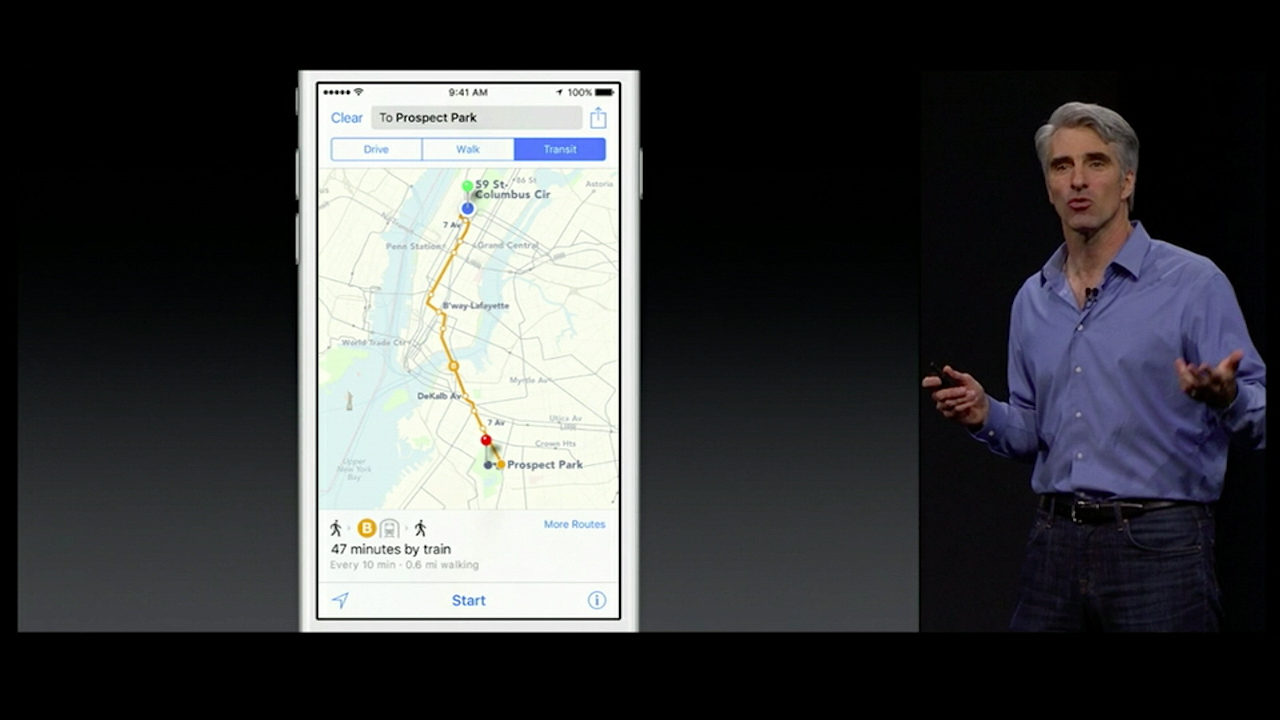 Video: Apple Maps finally get on board with public transit