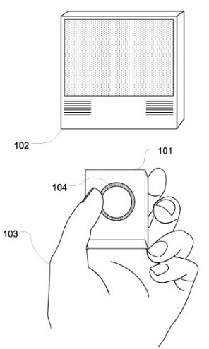 Future remote controls could sport a fingerprint sensor, as envisioned by Apple.
