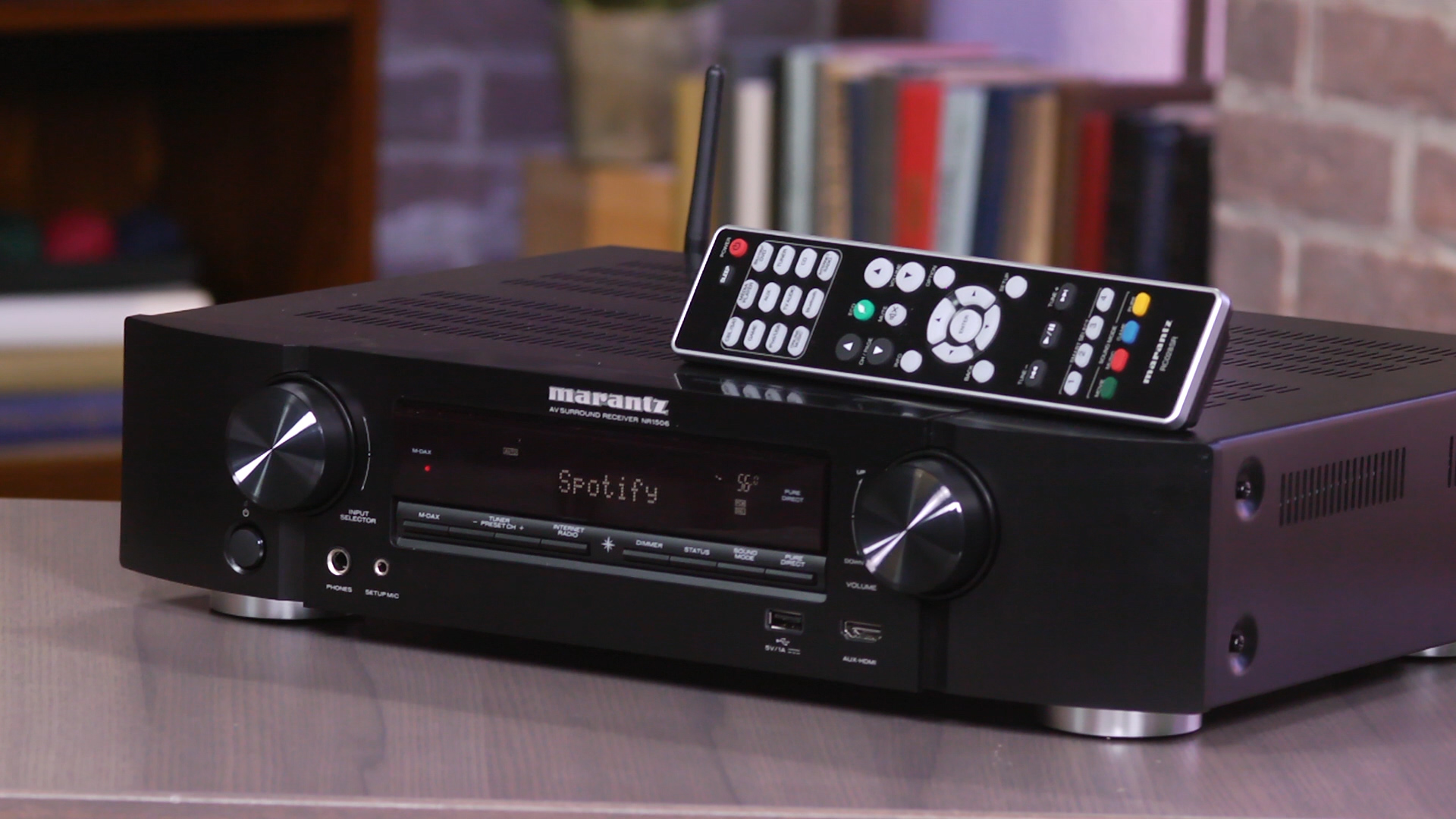 Video: Slimline Marantz NR1506 piles on features and performance