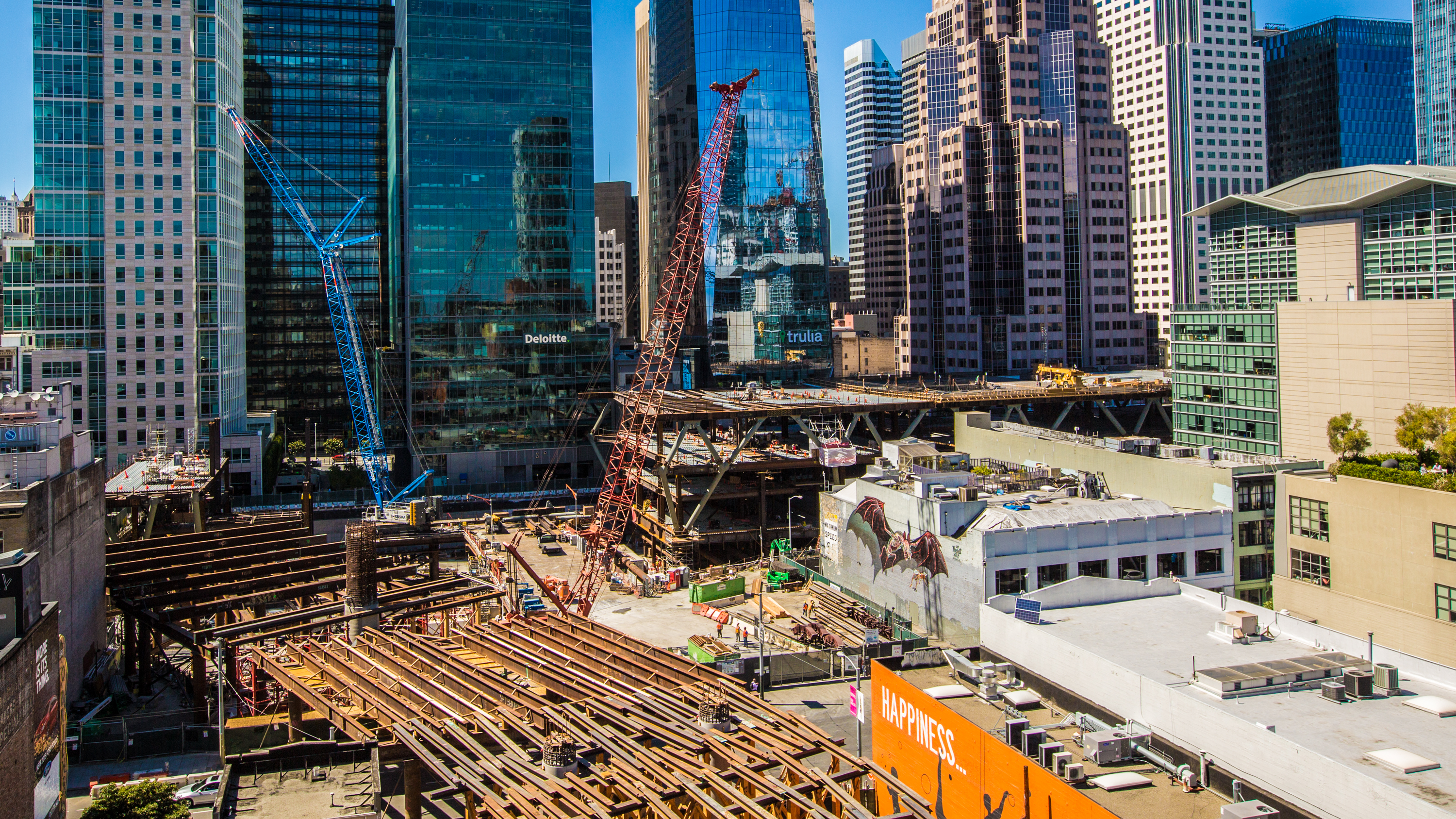 Construction of the $4.5 billion Transbay Transit Center is slated to be completed in late 2017.