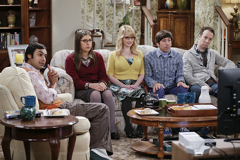 "<p>""The Matrimonial Momentum"" -- Sheldon  doesn\'t know how to act after Amy pushes pause on their relationship, on the ninth season premiere of THE BIG BANG THEORY, Monday, Sept. 21 (8:00-8:31 PM, ET/PT), on the CBS Television Network. Pictured left to right: Kunal Nayyar, Mayim Bialik, Melissa Rauch, Simon Helberg and Kevin Sussman Photo: Sonja Flemming/CBS ©2015 CBS Broadcasting, Inc. All Rights Reserved</p>"