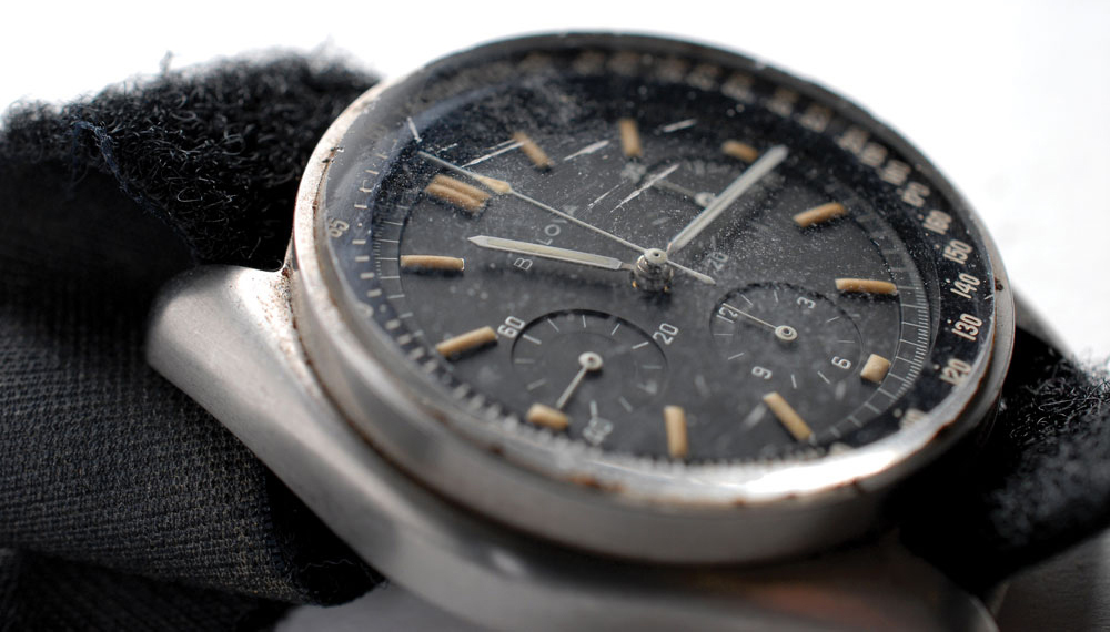 The Bulova Chronograph did not return unscathed from its round trip to the moon.