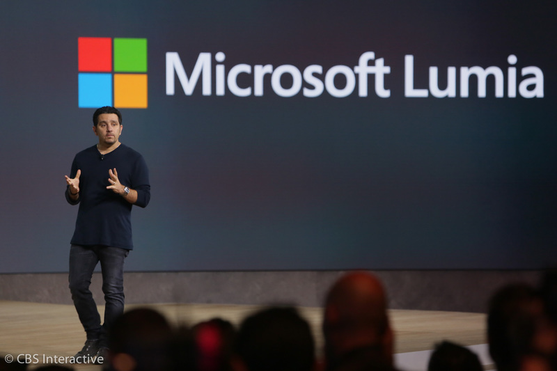 <p>Panos Panay, who leads the development of all of Windows premiumd devices, takes the stage to introduce the new Microsoft Lumia smartphones.</p>