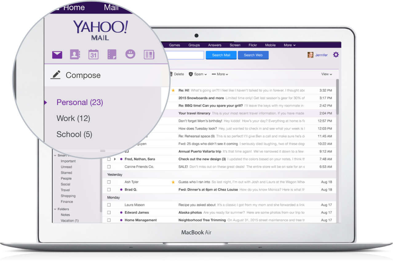 Yahoo mail is one of the company's most important products.