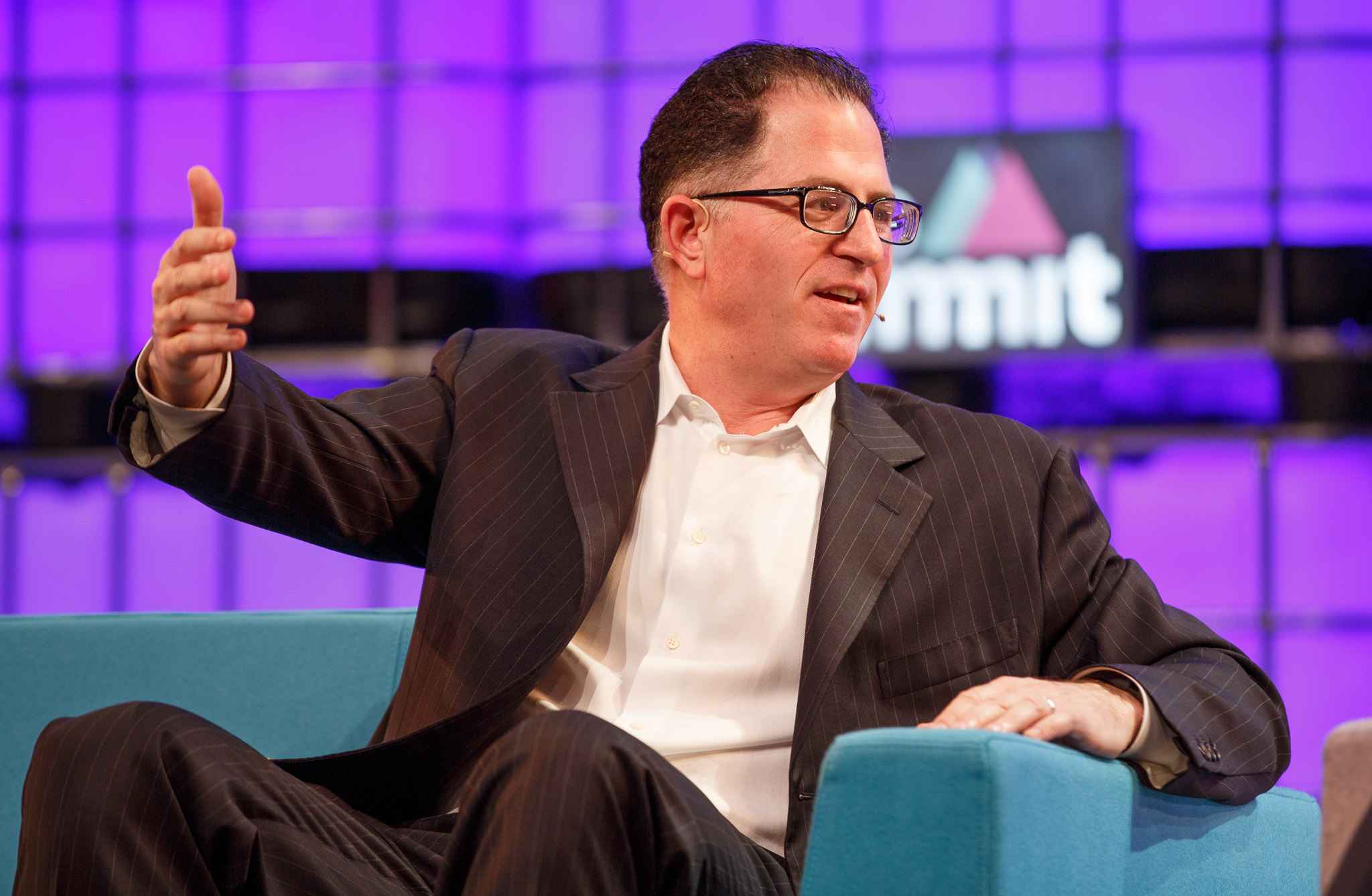 <p>Dell CEO Michael Dell speaks at Web Summit 2015.</p>