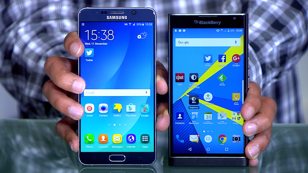 Video: Samsung Galaxy Note 5 vs. BlackBerry Priv: ¿Cuál es el mejor celular? [video]