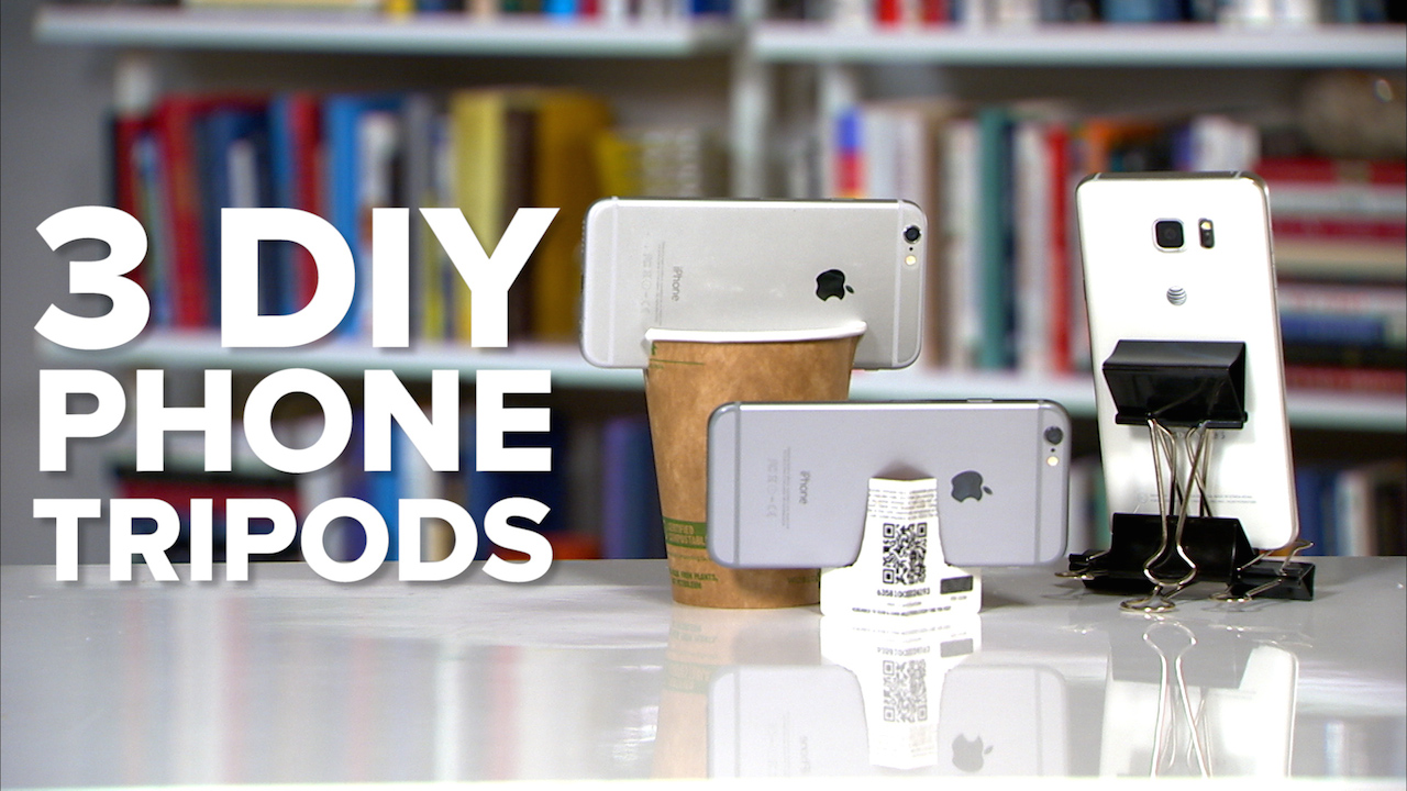 Video: 3 DIY phone tripods