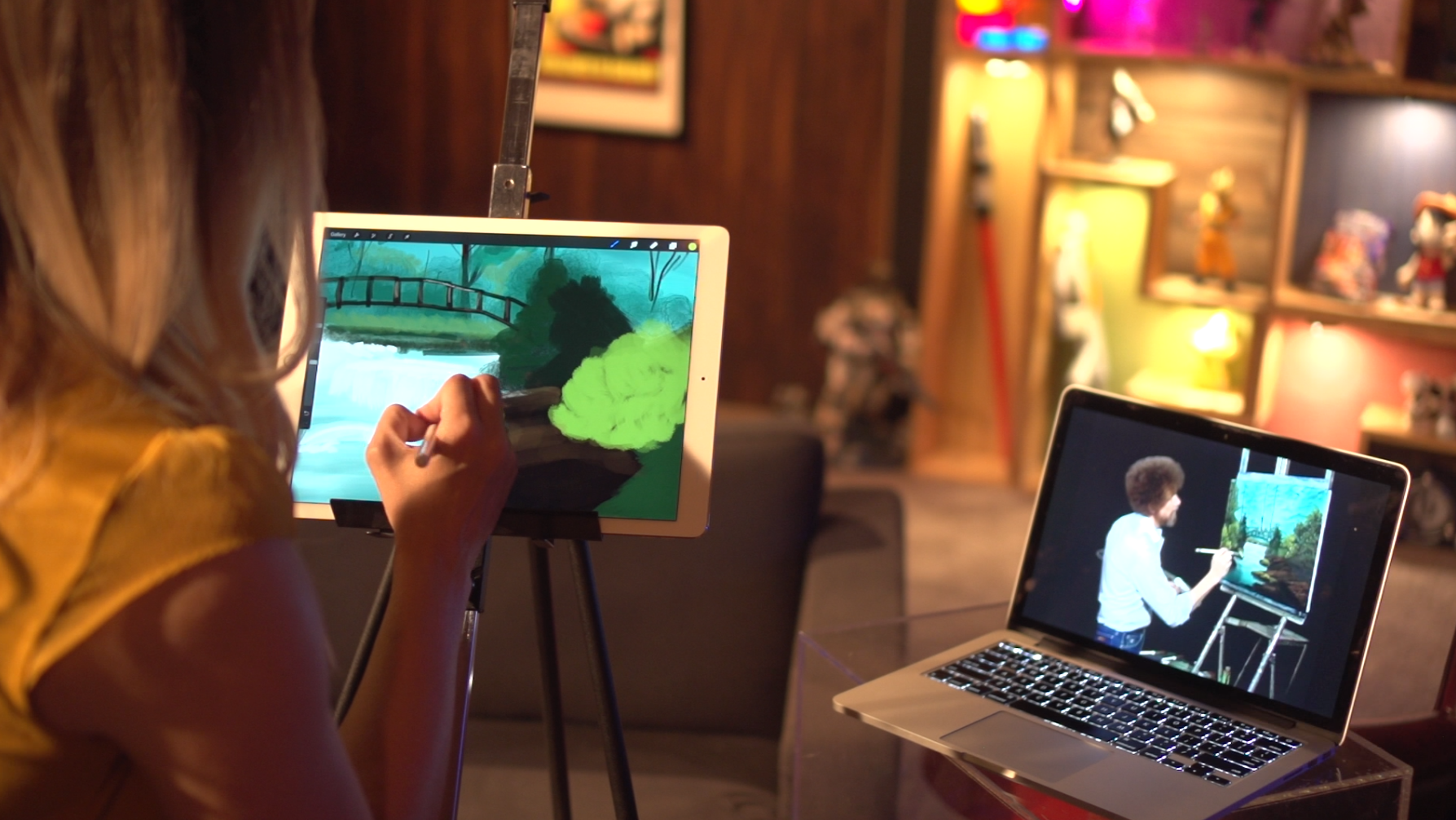Video: Making a masterpiece with Bob Ross and the iPad Pro Pencil